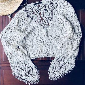 Beautiful Handmade Beige Limited Boho Gypsy Top